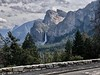 Half Dome and Bridalveil Falls from Tunnel View