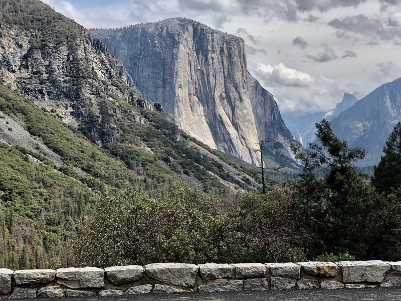 El Captian and Half Dome from Tunnel View