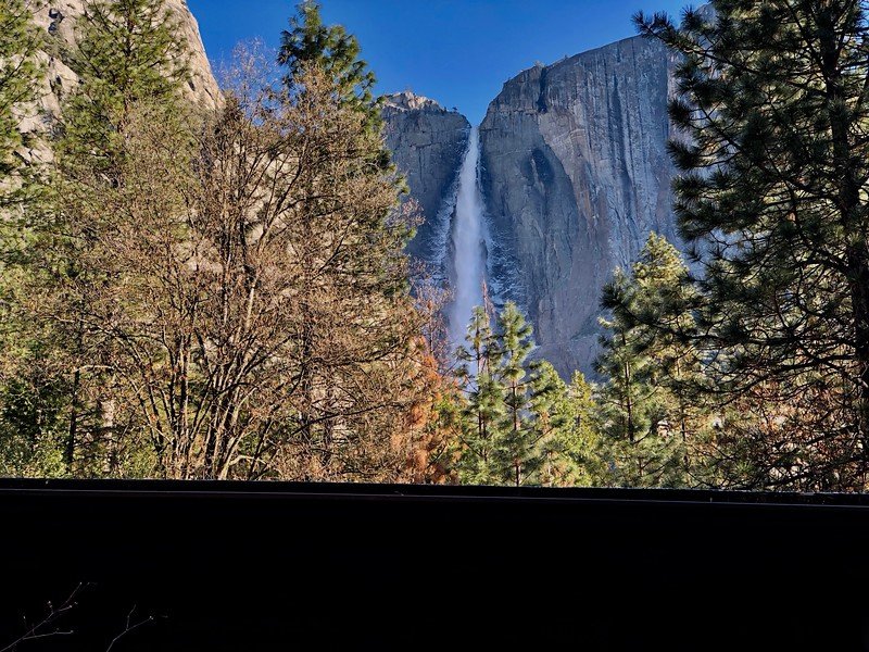Upper Yosemite Falls from the Lodge