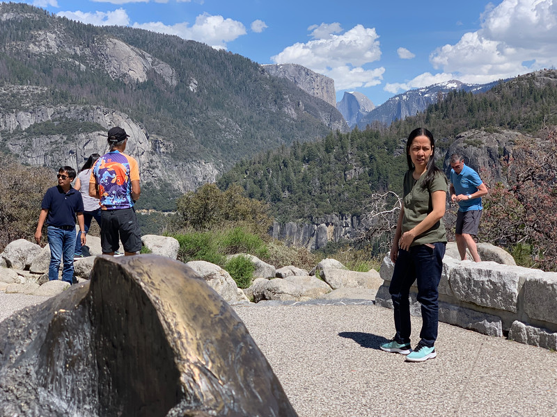 Half Dome sculpture and the real thing