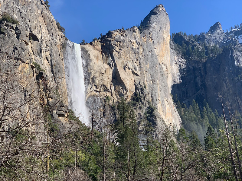 Bridalveil Falls and the Leaning Tower