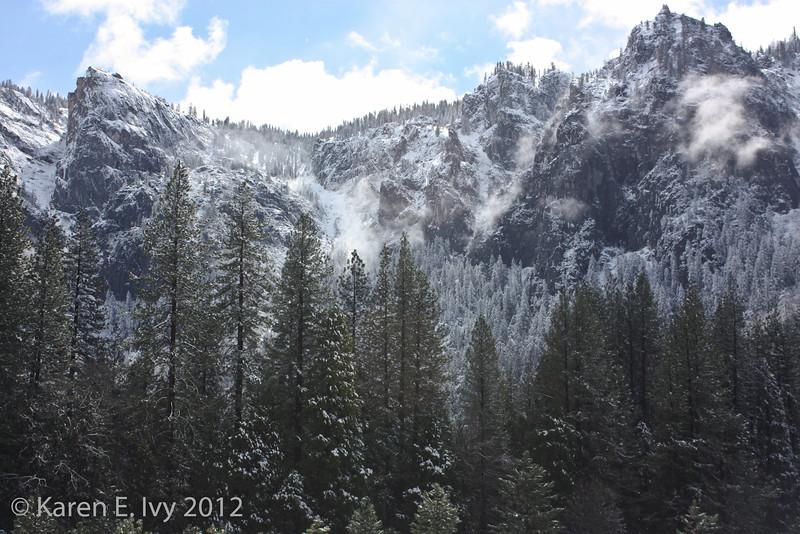 Snowy morning, Yosemite