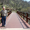 New trestle bridge, Railroad Flat, with Jim