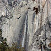 Frozen spray around Yosemite Falls