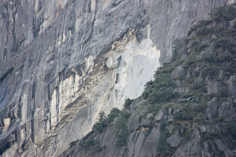 Rockfall trace - nearly landed on Curry Village