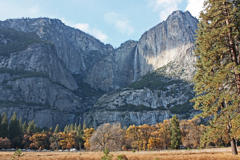 Yosemite Falls from across the valley