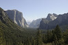 View of Yosemite Valley from Tunnel View on Wawona Road