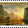 Stamp of Bierstadt Yosemite painting (2008).