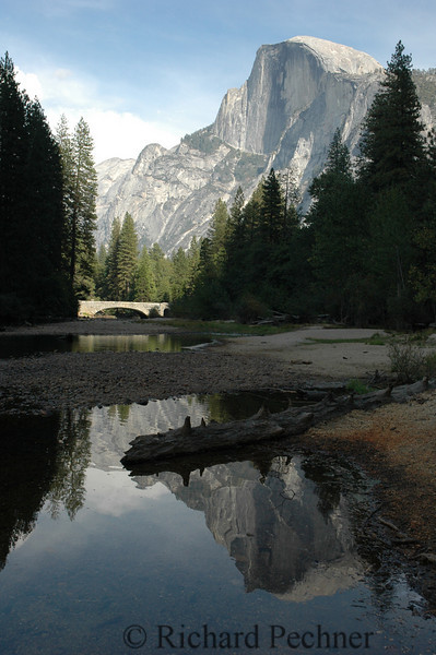 Half Dome and reflection from the Merced River