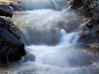Roadside creek cascade