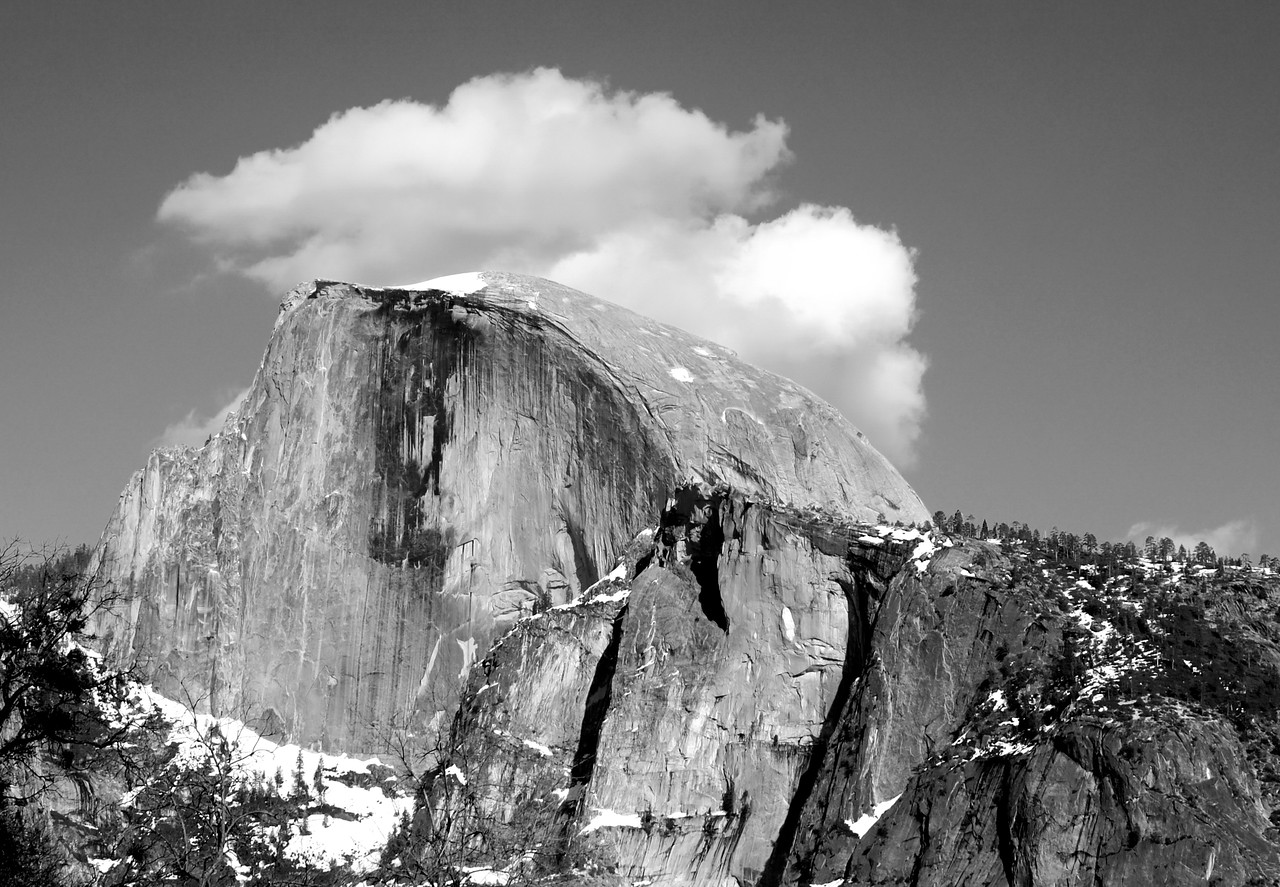 Half Dome has its own weather.