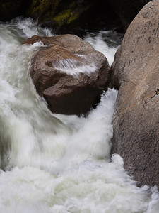Rocks and cascade, lower Merced River