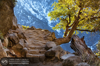 Pathway to Infinity. Hiking the Upper Yosemite Falls Trail.