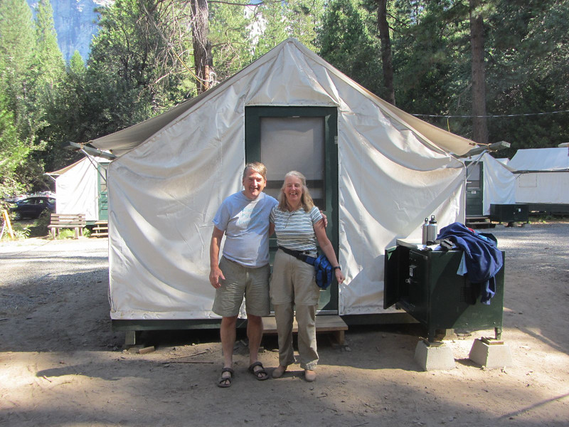 I visited Yosemite National Park with my sister Rachel and Uzbek friend Azimjon.  We stayed in tents but we were not roughing it.