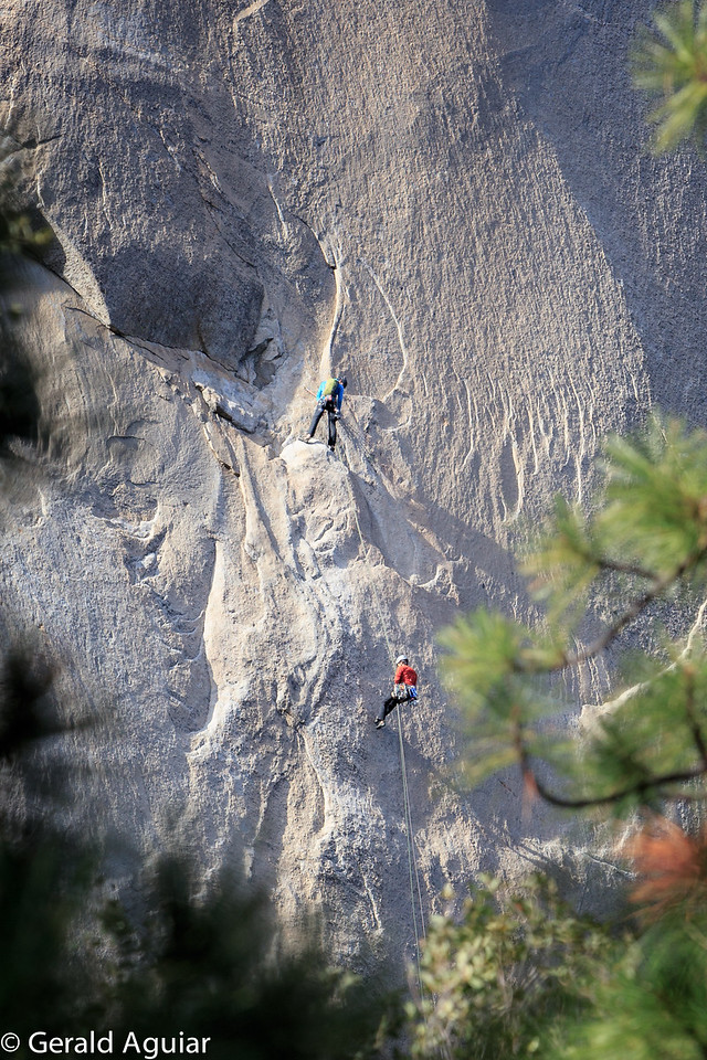 Mountain Climbers Descending from El Capitan