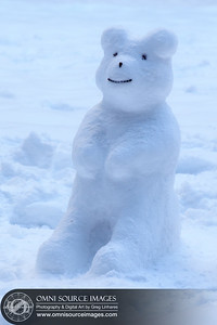 3 ft. Snow Bear. (Created by Angela Linhares) in Yosemite National Park).