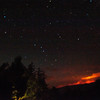 Wildfire at a starry nigth
