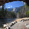 On the banks of the Merced River in Yosemite Valley