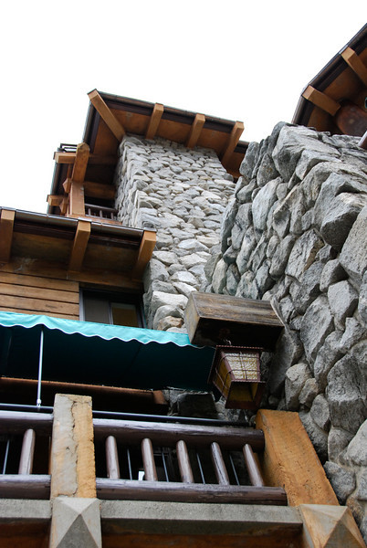 """<span id=""""title"""">Ahwahnee Detail</span> The wood and rock of this hotel are beautiful. A must-see if you're in Yosemite."""