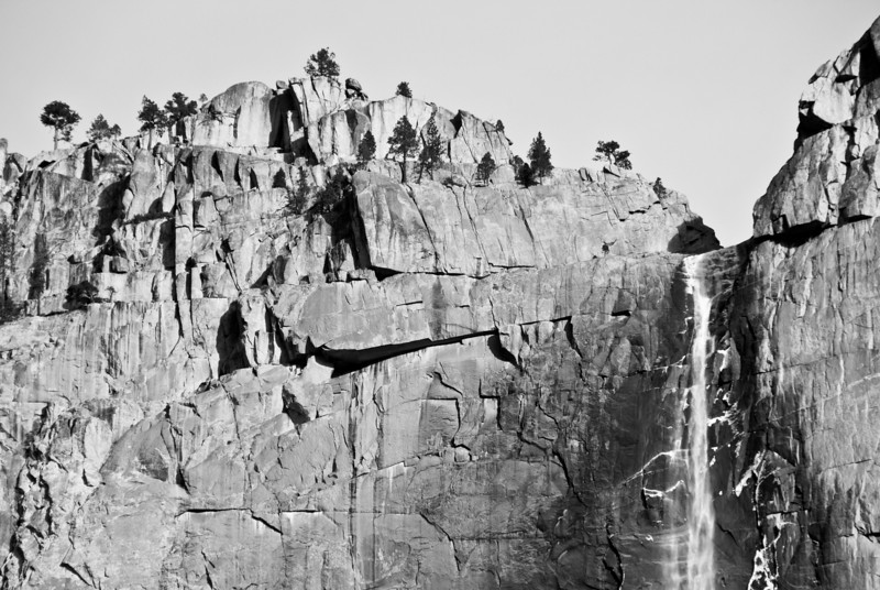 """<span id=""""title"""">Upper Yosemite Falls</span> You can see the snow/ice from the day before. I like how it appears that the camera is level with the falls, even though it was about 2k feet above."""
