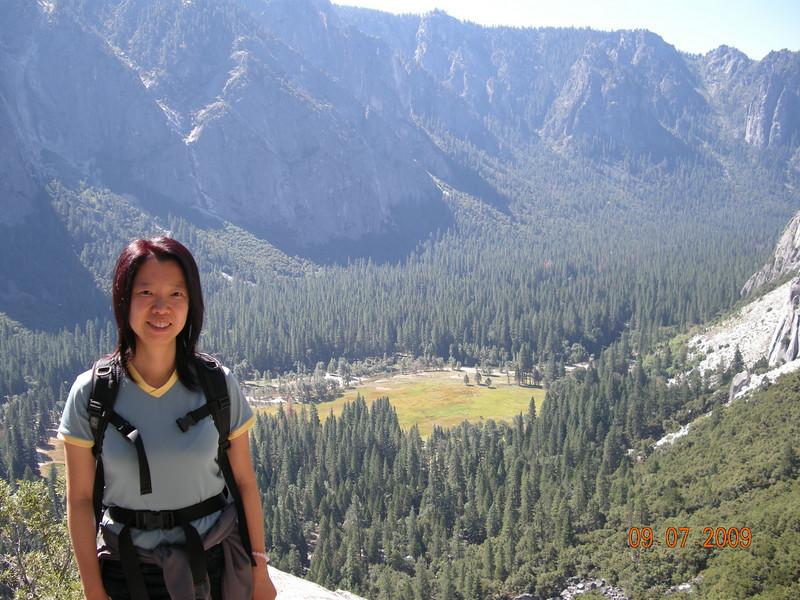 Looking down Yosemite Valley, Upper Falls Trail
