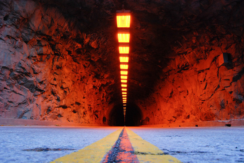 "<span id=""title"">Wawona Tunnel</span> It's long and narrow, and eerily reddish."