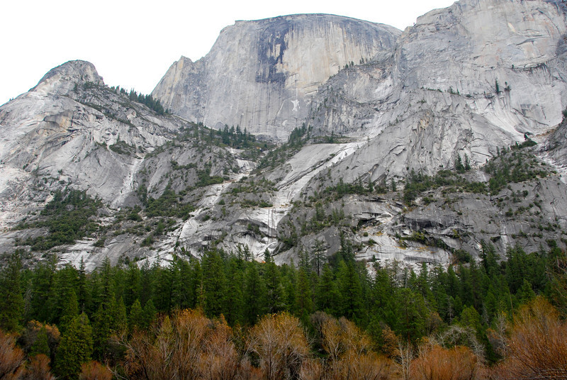 """<span id=""""title"""">Half Dome</span> Towering nearly a mile above Mirror Lake. I like the layers of trees here."""