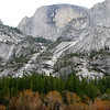 "<span id=""title"">Half Dome</span> Towering nearly a mile above Mirror Lake. I like the layers of trees here."