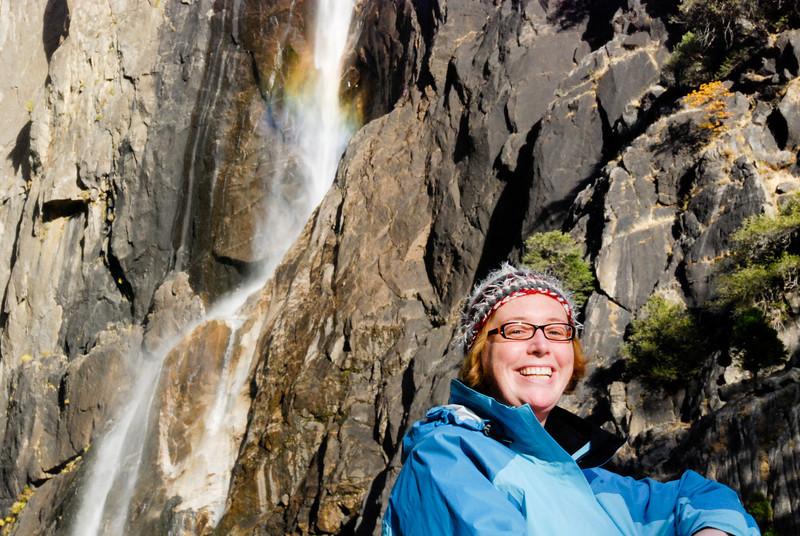"""<span id=""""title"""">Ann!</span> @ Lower Yosemite Falls"""