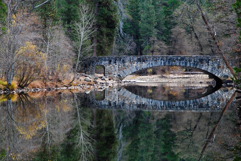 "<span id=""title"">Stone Bridge</span> Over the Merced River."