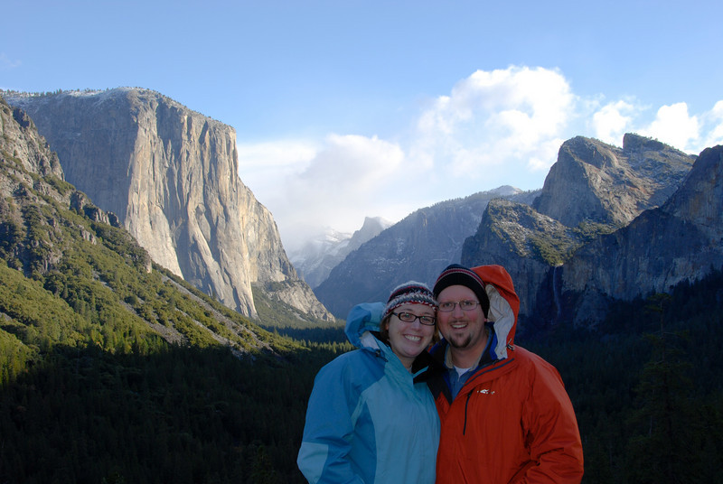 """<span id=""""title"""">Tunnel View</span> Yosemite Valley from Tunnel View, just after the Wawona Tunnel. It's the first jaw-dropping view you get after driving through the forest."""