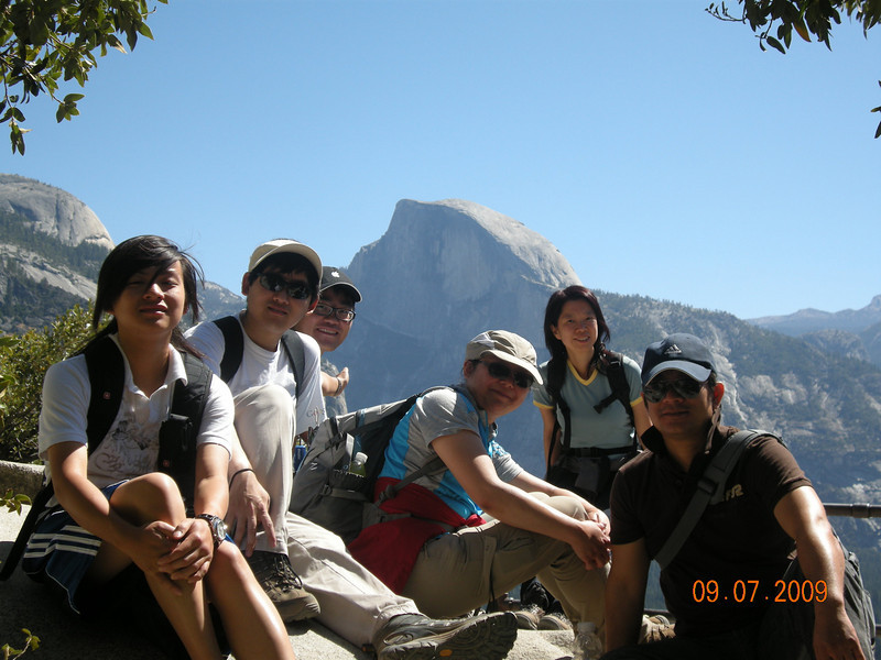 Group Picture, Half Dome View, Upper Falls Trail