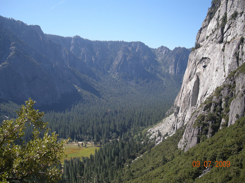 Valley below, Upper Falls Trail