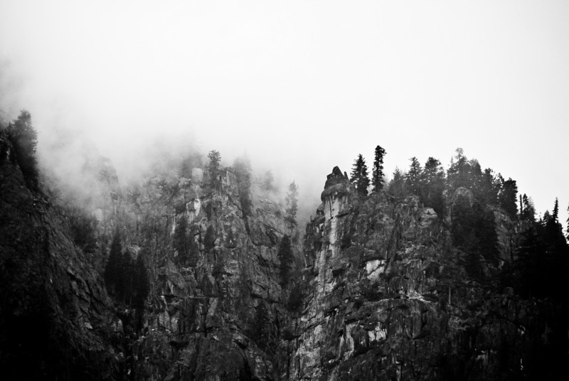 """<span id=""""title"""">Stormy</span> Before it actually rained, the clouds started covering the top of the valley."""