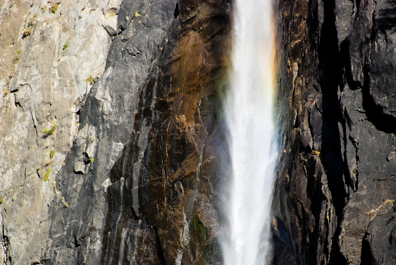 """<span id=""""title"""">Sorta Rainbow</span> It's pretty subtle, but we saw some color in Lower Yosemite Falls. This is one of the most accessible """"hikes"""" I've ever seen. If you're in Yosemite you have no excuse not to do it."""