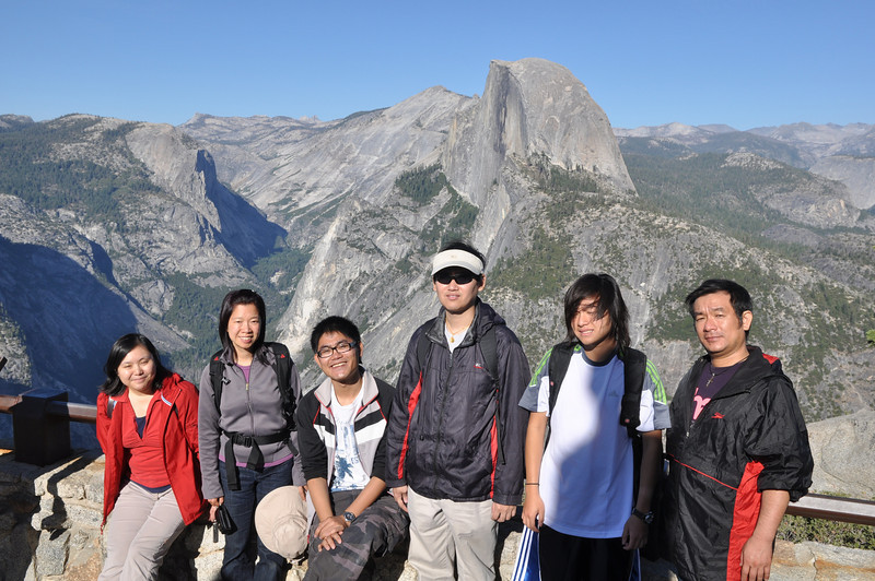 Group Picture, Half Dome at Glacier Point