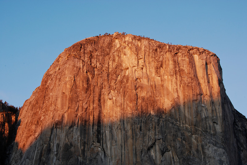 """<span id=""""title"""">Sunset on El Capitan</span> After spending the day in Hetch Hetchy, we got back to Yosemite Valley right at sunset. It was terribly cold and windy, so I took about a dozen shots of this in the hopes that at least one would turn out sharp."""