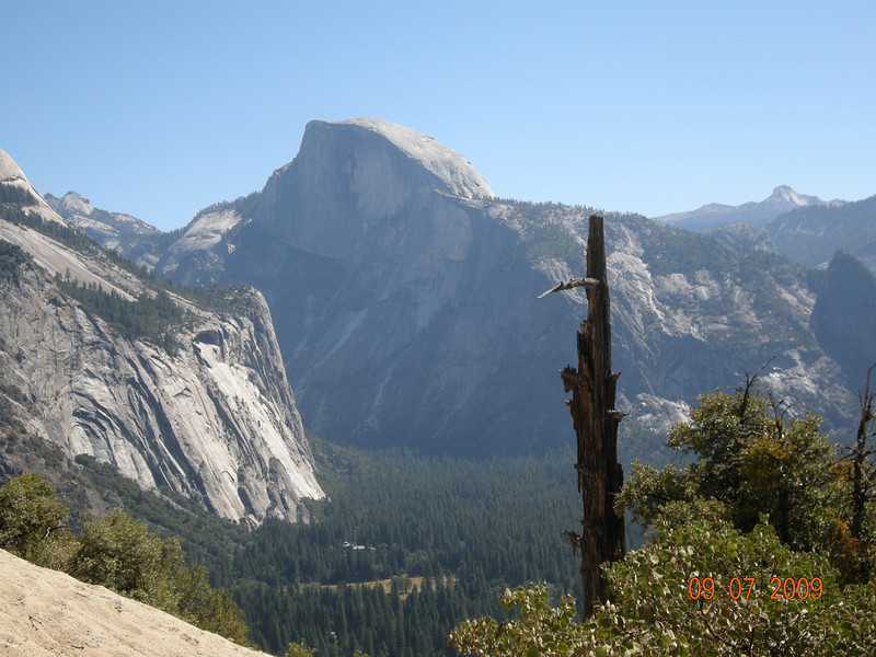 Half Dome view, Upper Falls Trail