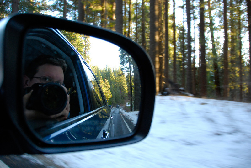 "<span id=""title"">Driving</span> On the road back to Yosemite Valley"