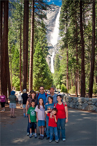 Yosemite 2010 - Sandy, Jay, Robb, Michelle, Kevin, Katie, Harris and Parker at Yosemite Falls
