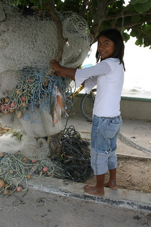 Girl with fish, south of Campeche