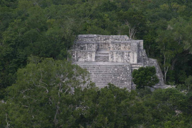Calakmul, top of Estructura II