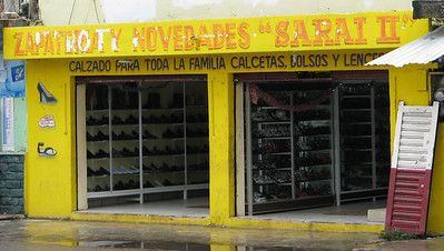 One of ten (?) similar shoe stores in Felipe Carrillo Puerto!