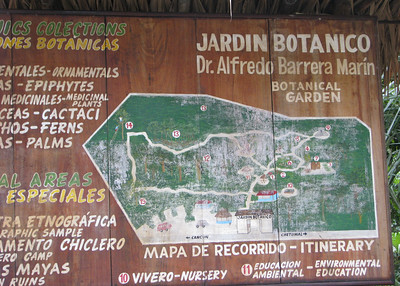We start at the Botanical Garden in Puerto Morales.