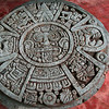This wooden Mayan stella came from Guatemala