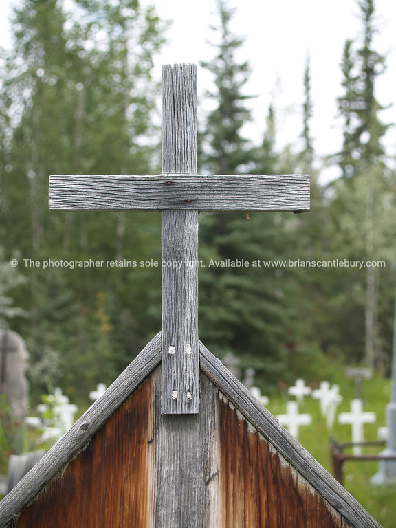 "Graveyard wooden cross., cemetery outside Dawson City. <br /> <br /> SEE ALSO:  <a href=""http://www.blurb.com/b/893025-north-to-alaska"">http://www.blurb.com/b/893025-north-to-alaska</a>"