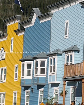 Hotel facade, timber and traditional architecture in Dawson City, Canada.   SEE ALSO: www.blurb.com/b/893025-north-to-alaska