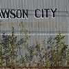 "Dawson City, the town name painted onto the side of an old corrugated iron building.<br /> <br />  SEE ALSO:  <a href=""http://www.blurb.com/b/893025-north-to-alaska"">http://www.blurb.com/b/893025-north-to-alaska</a>"