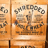 """Cargo, shredded wheat cases in stowage on the river boat. Close up. <br /> <br /> SEE ALSO:  <a href=""""http://www.blurb.com/b/893025-north-to-alaska"""">http://www.blurb.com/b/893025-north-to-alaska</a>"""