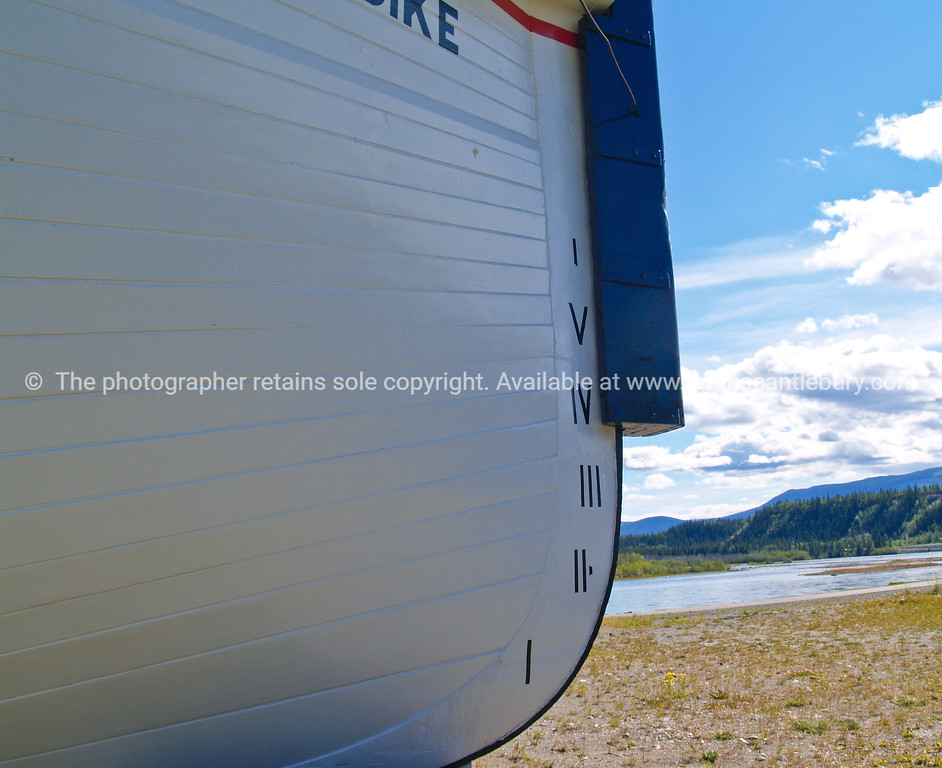 """Bow of Klondike river boat, with depth markings, close up. <br /> SEE ALSO:  <a href=""""http://www.blurb.com/b/893025-north-to-alaska"""">http://www.blurb.com/b/893025-north-to-alaska</a>"""